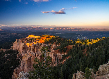Bryce Canyon Vista, Expansive View of Canyon to the Horizon Stock Photo