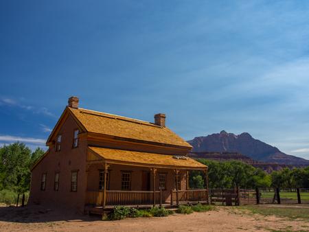 Frontier House, Utah Desert, Ghost Town, House Stock Photo