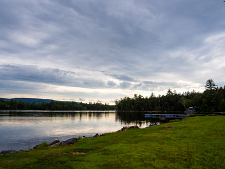 Waterfront View from Lawn, View of River, Penobscot River, Maine