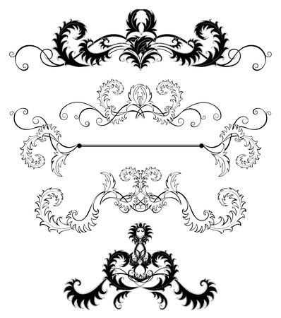 decorations for the pages are made of swirling stylized, patterned leaves and plants on a white background.