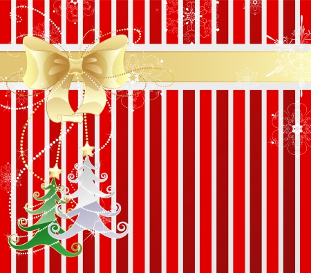 striped new-year background from red and white stripes  Illustration