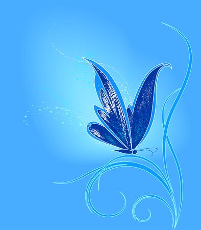 phosphorescence: blue butterfly