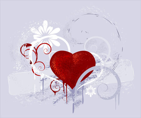 Heart drawn by paint Vector