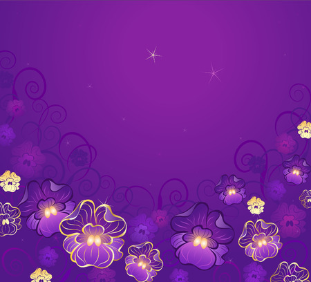 luxurious, artistic painted, gilded on the violets purple background