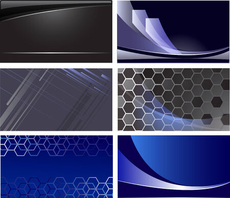 splendid: six original cards with the dark blue and black background.
