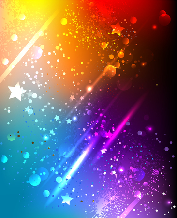 rainbow background with bright sequins and shiny texture.
