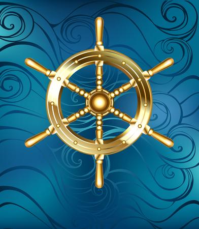 Golden ship wheel.