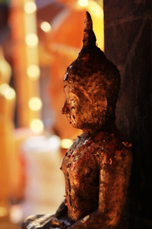 The Old  image of Buddha at Chiang Mai, Thailand