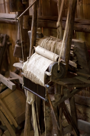 the old loom at Chiang Mai Thailand Stock Photo