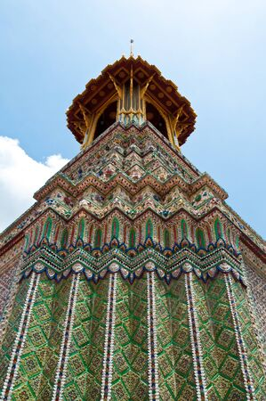 Pagoda in Wat Pra Kaew (Temple of the Emerald Buddha), Bangkok Thailand. photo