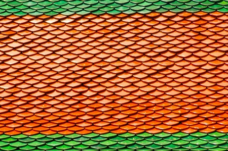 rooftiles: Architectural Detail of Roof Tiles of Wat Phra Kaew, Temple of the Emerald Buddha, Bangkok, Thailand with Plenty of Copy Space