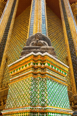 image of Buddha in Grand Palace - at Wat Phra Kaew, Temple of the Emerald Buddha, Bangkok, Thailand. Stock Photo - 13615291