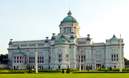 Marble building Italian neo-classical style of Anandasamakhom Throne Hall in Bangkok, Thailand