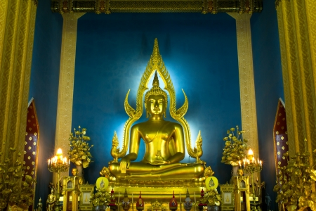 profound: Buddha of Wat Benchamabophit is a temple compound of profound beauty and religious importance Wat Benchamabophit is a royal monastery belonging to the first class ranking of Rajavaravihara  Few wats belong to this class in Bangkok,Thailand Editorial