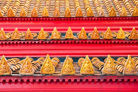 Thai style buddhism temple Roof Tiles of Wat Benchamabophit is a temple compound of profound beauty and religious importance.Wat Benchamabophit is a royal monastery belonging to the first class ranking of Rajavaravihara. Few wats belong to this class in B photo