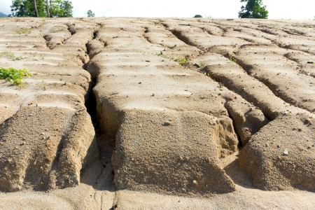exploitation: Soil erosion to overgrazing leading to desertification caused by over exploitation Stock Photo