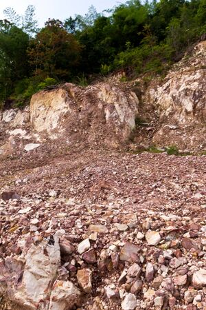 Hill after landslip on the  landscape deformation Stock Photo - 13769401