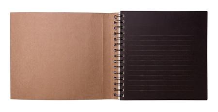 Blank open tekening boek geà ¯ soleerd op witte achtergrond