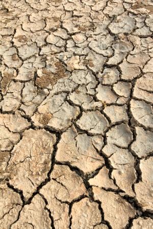 Droogte land bodemtextuur op de grond Stockfoto