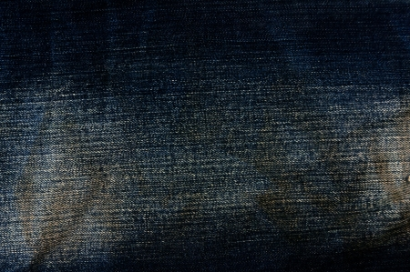 Detail of torn Blue denim, front view  jean  background or texture Stock Photo - 13984390