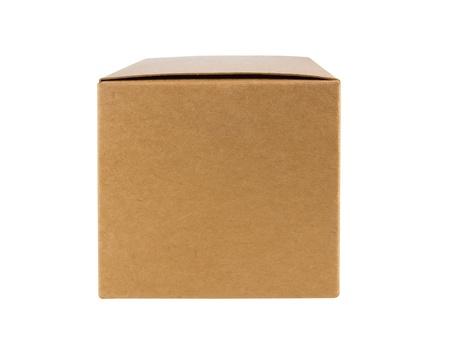 Carton côté avant de la boîte avec isolé sur blanc Banque d'images - 14306088