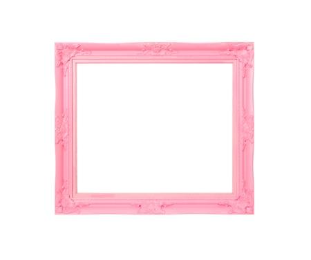 Pink Vintage foto frame, hout verzinkt, blauw hout achtergrond