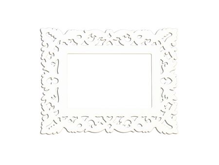 silver plated: Silver Vintage picture frame, wood plated, wood background, clipping path included