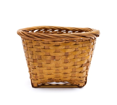 wicker basket: Kind of Chinese sweetmeat steamed in a basket on white background