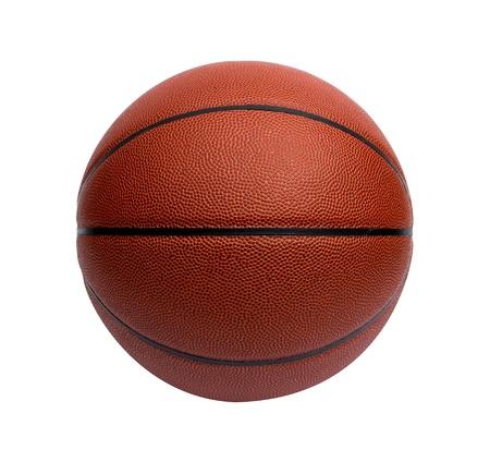 Close-up van een basketbal op een witte achtergrond