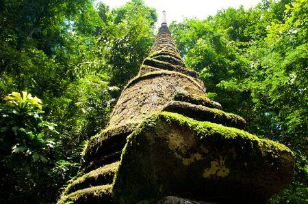Oude pagode Oude stad in het historische nationale in Thailand