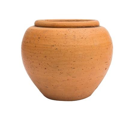 Oranje pot geïsoleerd op witte achtergrond