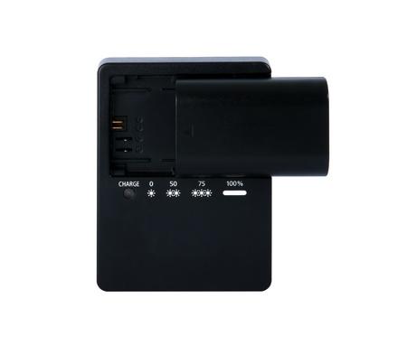 Batterie de la caméra noir et chargeur de chargeur avec batterie noir isolé sur fond blanc Banque d'images - 18962722