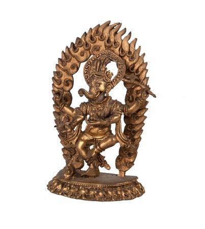 Or Dieu hindou Ganesh sur un fond blanc Banque d'images - 18962750
