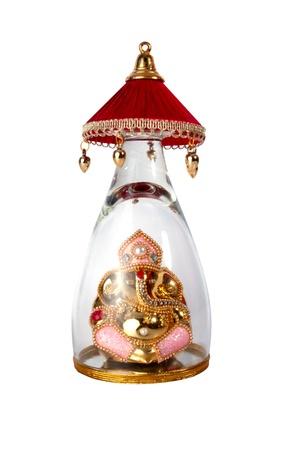 Or Dieu hindou Ganesh sur un fond blanc Banque d'images - 18954738