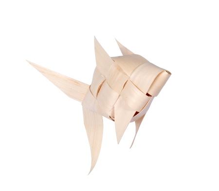 Ornements Fishshaped ornements faits de feuilles de palmier. Banque d'images - 18954723