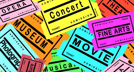 arts culture and entertainment: Tickets