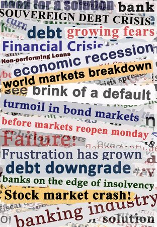Crisis Headlines Stock Photo - 10024512