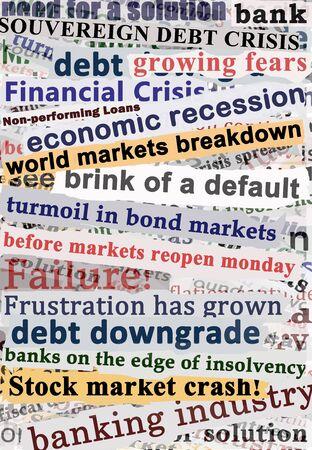 Crisis Headlines Stock Photo - 10024512