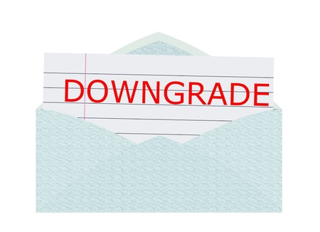 Downgrade News Stock Photo - 10082058