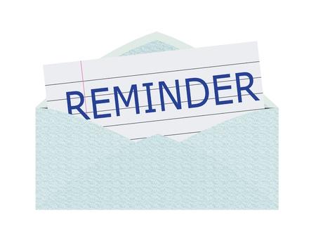 Reminder Letter Stock Photo - 10082054