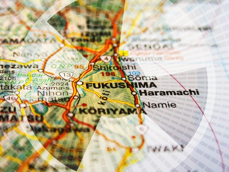 Fukushima Map Stock Photo - 10230327