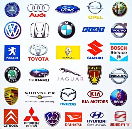 daimler: Logos of international carmakers