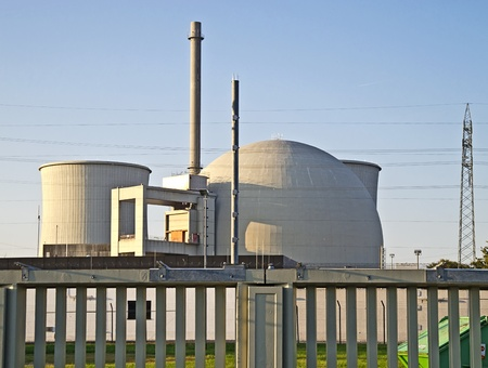 Biblis, October 16, 2011: Nuclear power station in Biblis (Hesse, Germany). Plant operator: RWE Group. Stock Photo - 10970491