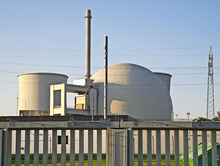 Biblis, 16 ottobre 2011: centrale nucleare di Biblis (Assia, Germania). Il gestore dell'impianto: Gruppo RWE.