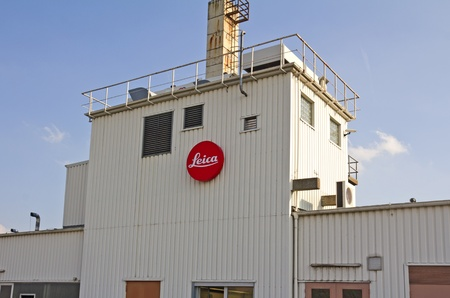hesse: Solms, Germany, October 4, 2011: Factory building of Leica Camera AG in Solms, Germany. Leica is an international company in the optical industry. Editorial