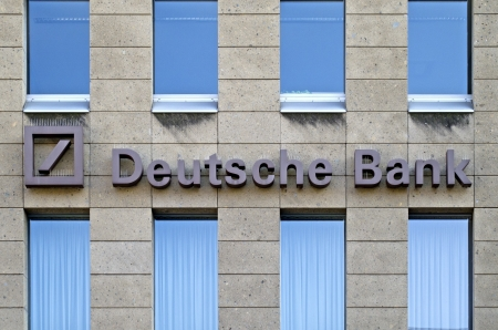 Mainz, Germany, September 25, 2011: Branch of banking giant Deutsche Bank Group Editorial