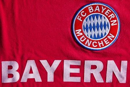 ドイツのサッカー クラブの FC バイエルン ミュンヘン ジャージー