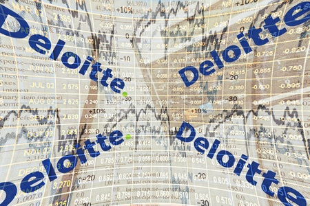 Illustration of one of the big4 audit and advisory firms Deloitte Editorial