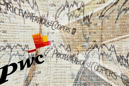 イラストは、事務所プライスウォーターハウスクー パース (PwC) を監査します。PwC は、ロンドン、イギリスに本社を置くグローバルなプロフェッ