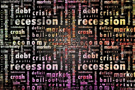 turmoil: Crisis, Crash, Recession Stock Photo